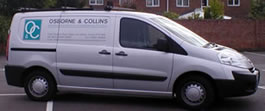 One of fleet of vans for PAT testing division of Osborne & Collins, electrical contractors